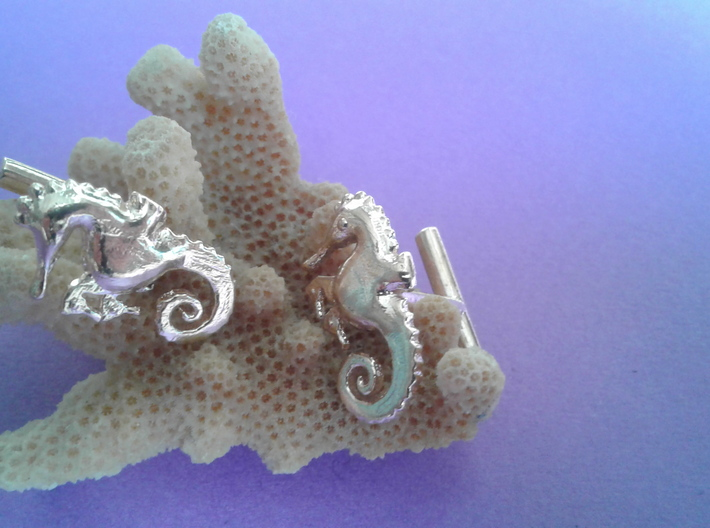 Chapter 3: He is giving birth! Cufflinks 3d printed