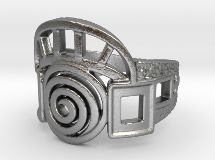 Archway Ring 3d printed Designed with a PATINA in mind for an antique look.