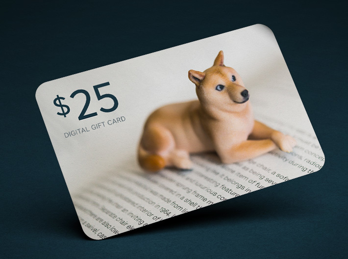 $25 Digital Gift Card 3d printed
