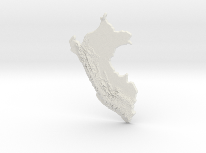 Peru Christmas Ornament 3d printed