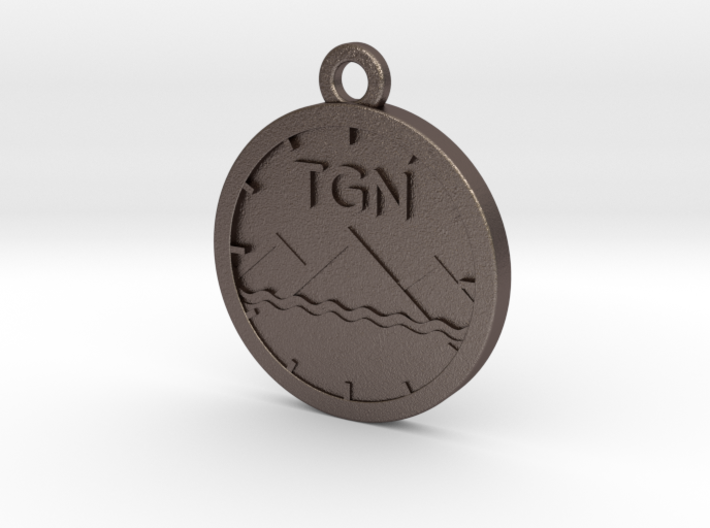 The Grey Nato Keychain 3d printed