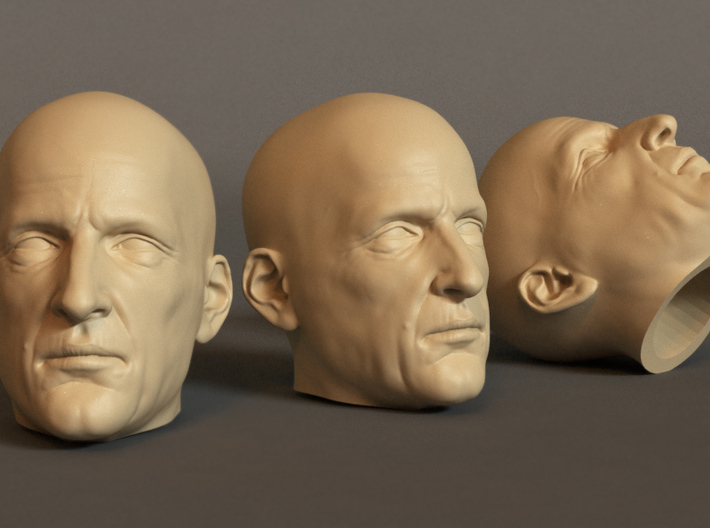 Generic Male Head 1/6 scale figure - Variant 07 3d printed