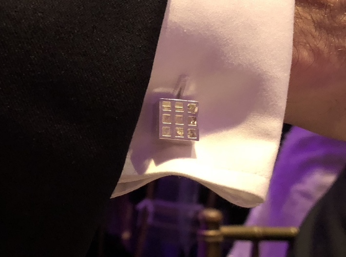 Square Cell Cufflinks 3d printed