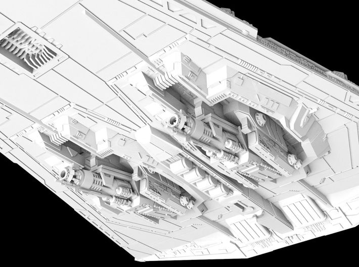 (Armada) First Order Dreadnought 3d printed