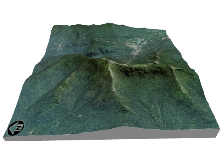 "Mount Mansfield / Stowe Mountain: 6"" 3d printed"