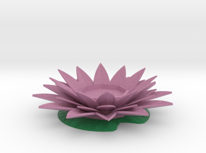 Water Lily Candle Holder 3d printed
