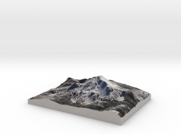 """Mammonth Mountain - Winter: 5""""x7"""" 3d printed"""