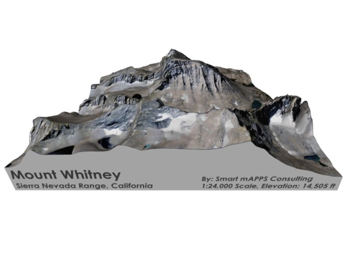 "Mount Whitney Color: 6""x6"" 3d printed"