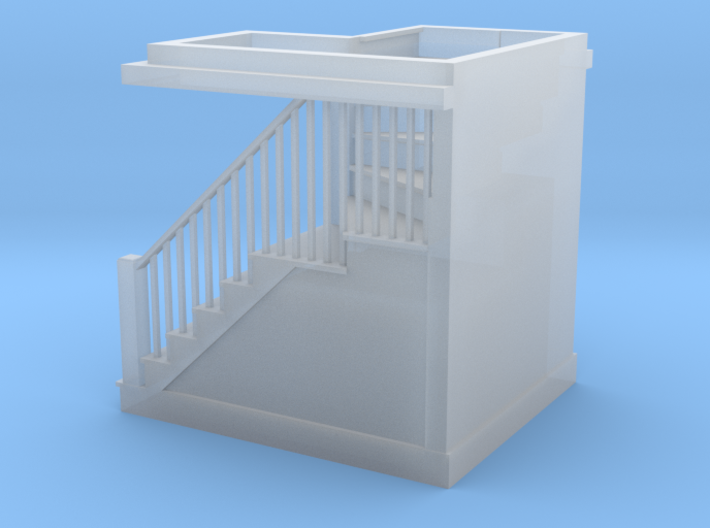 HO Scale staircase 3d printed