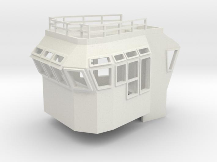 Bridge Superstructure 1/72 fits Harbor Tug 3d printed