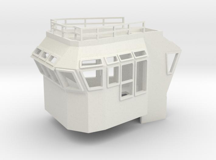 Bridge Superstructure 1/120 TT fits Harbor Tug 3d printed