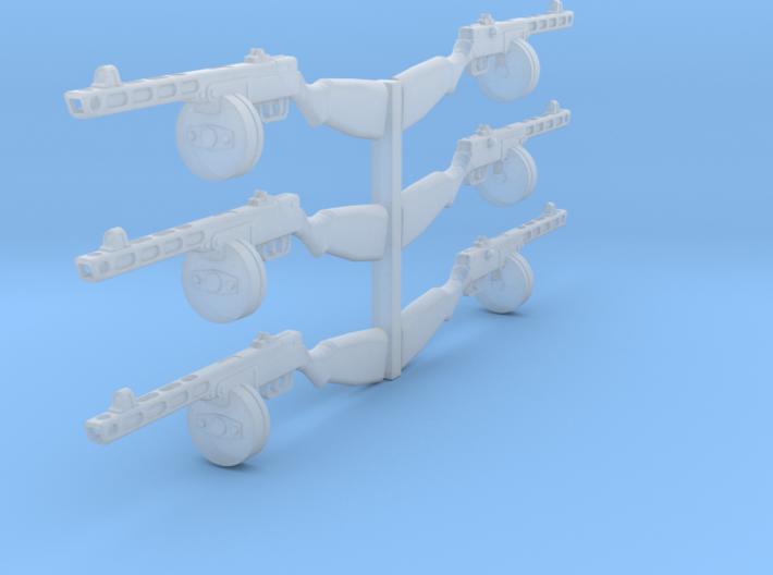 1/18 PPSh-41 machine guns x6 3d printed