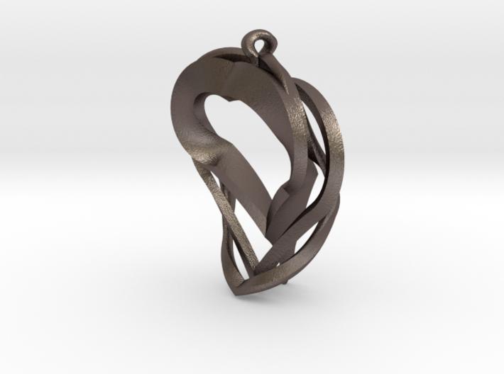 Triple Heart Pendant 3d printed