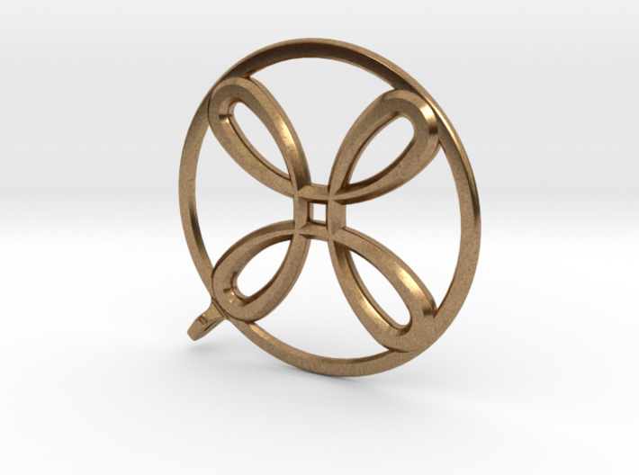 AntiSpin Flower Pendant: Classic 3d printed