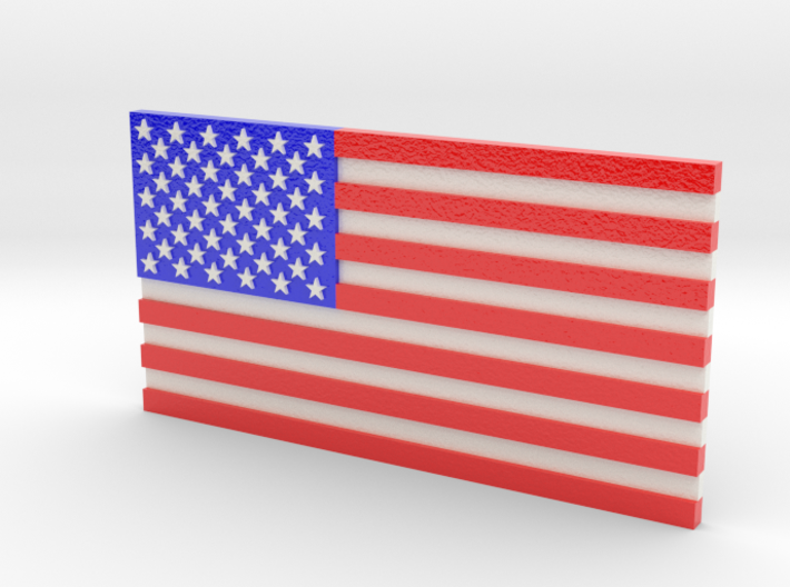 US Flag in Full Color 3d printed