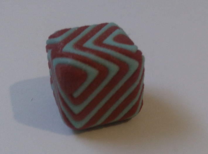 Cube patchwork spiral 3d printed