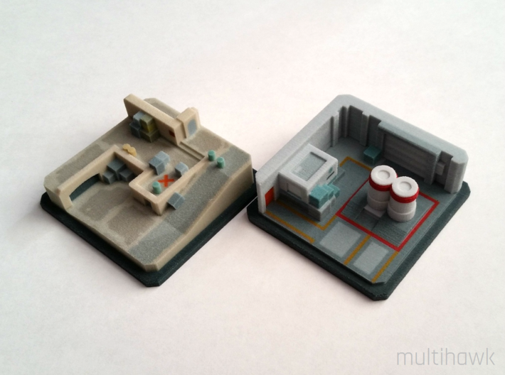Counter-Strike: GO® Pocket Nuke: A Site 3d printed Dust II A site (left) sold separately.