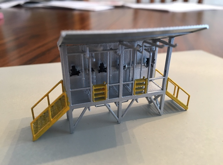 'N Scale' - Truck Filling Station 3d printed