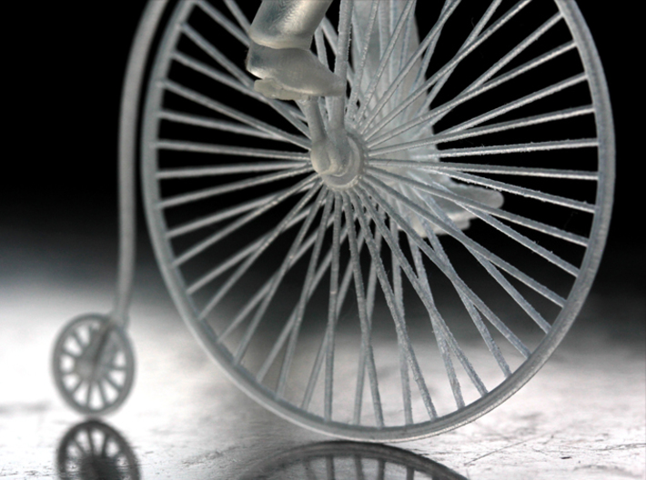 Charlie on his high wheel bicycle 3d printed
