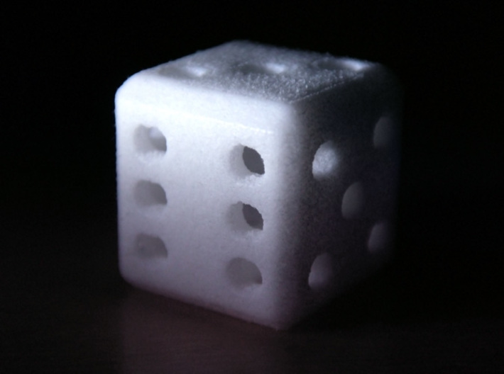Hollow Dice (D6) 3d printed