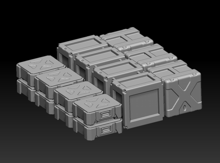 1:72 Star Wars Cargo Boxes 01 3d printed