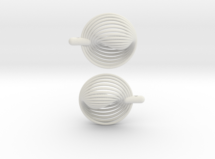 Earrings 20 circles 3d printed