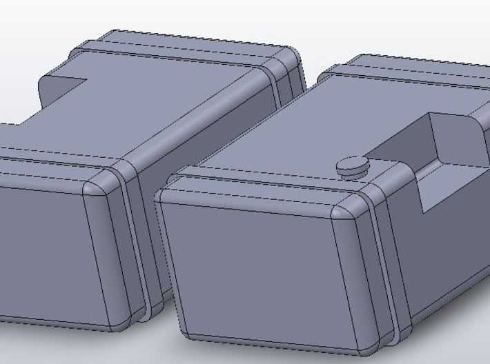 1/64 scale Frame Mounted Fuel Tanks 3d printed
