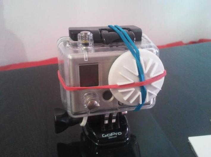 GoPro Housing Lens Cap 3d printed Cap with rubber band