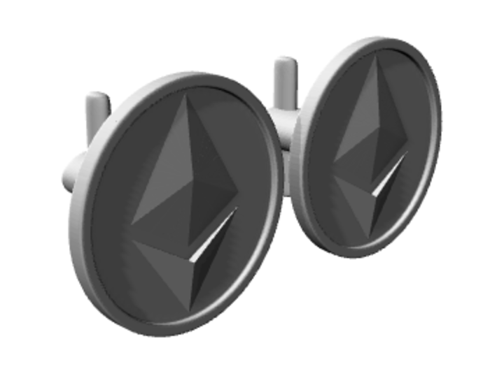 Ethereum Cufflinks 3d printed