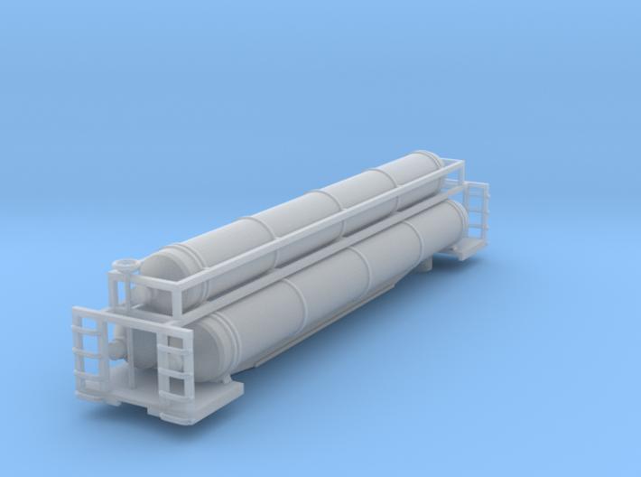 Helium 3 Tube Car Z scale 3d printed Helium tube car Z scale