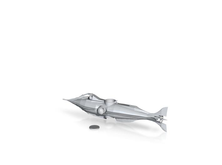 Nautilus Baking Soda Submarine 3d printed