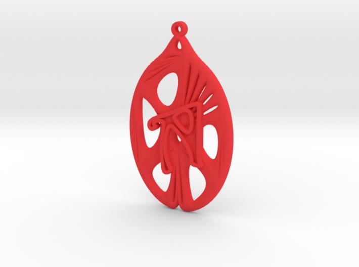 Personalised Voronoi Catenoid Curve Earring (001b) 3d printed Personalised Voronoi Catenoid Curve Earring (001b)