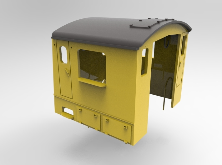 NS 2200 cabin scale 0 (1:45) 3d printed
