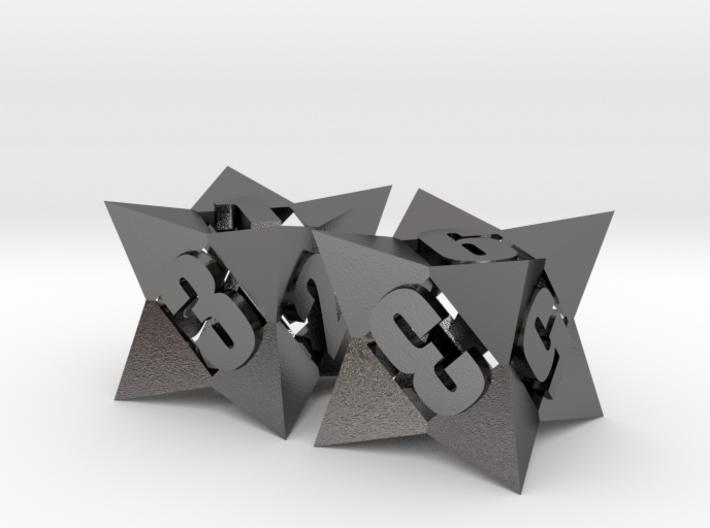Octetric d6 dice pair 3d printed