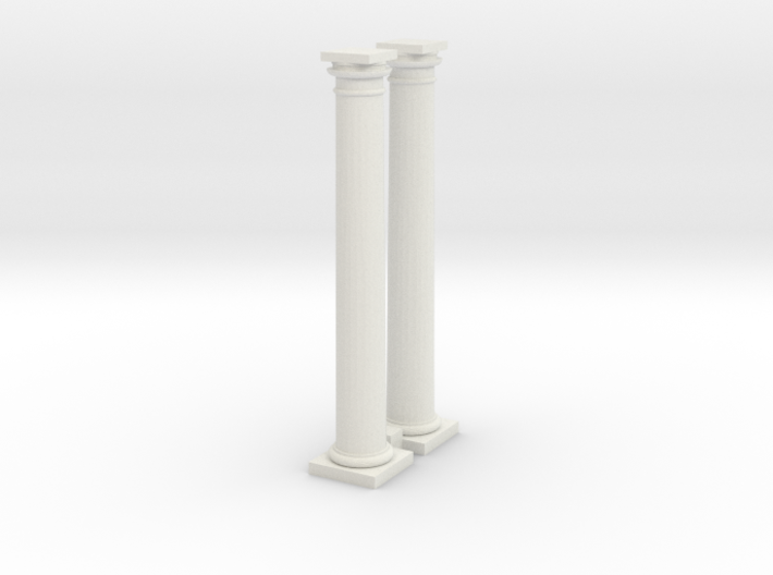 Doric Columns 2500mm high at 1:76 scale X 2 3d printed