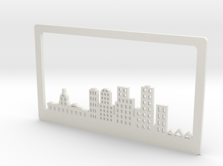 Edmonton Skyline Bookend 3d printed