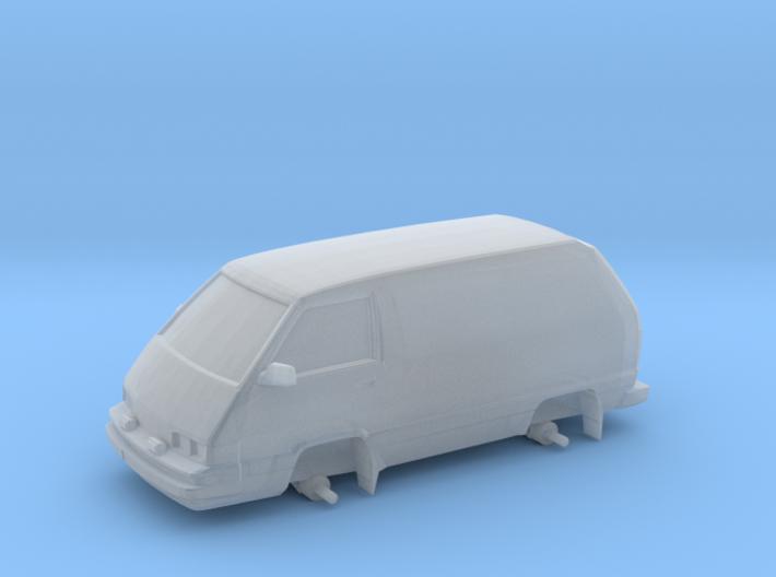 "1/87 Scale 4x4 Mini Van ""Panel Toy"" 3d printed"