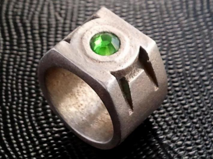 Green Lantern Ring 9.5 3d printed Finished ring.