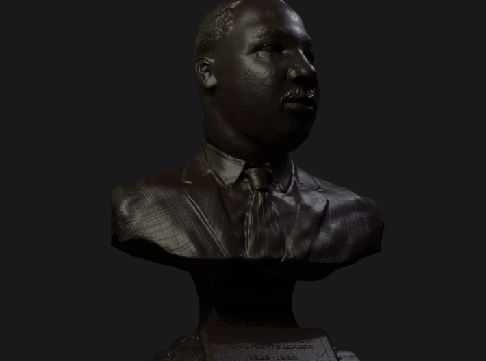 3.5 Inch miniature hand sculpted bust of Rev. Dr. 3d printed