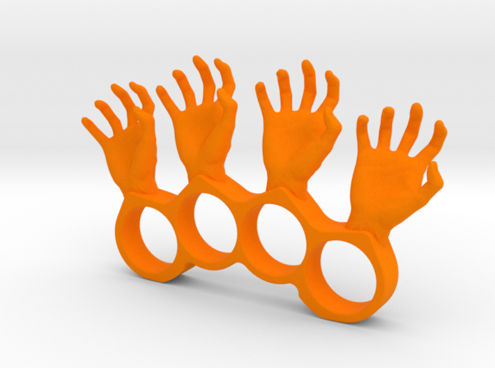 4 finger silly hand ring 3d printed