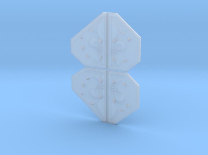 Armor Plates - Fleur-de-lis 3d printed