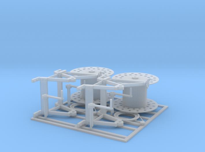 35th_Cable Drum Pair 3d printed