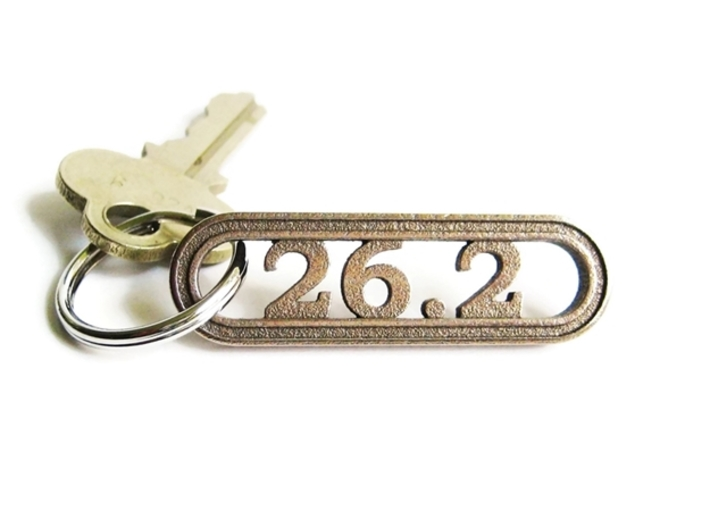 Marathon Keychain 26.2 - Better than a car decal! 3d printed 26.2 Miles Deserves More Than a Car Decal!