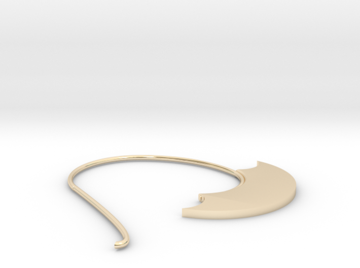 Hoop Earring(SWH1b) 3d printed