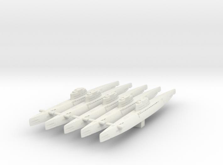 5 type XXI Submarine 3d printed