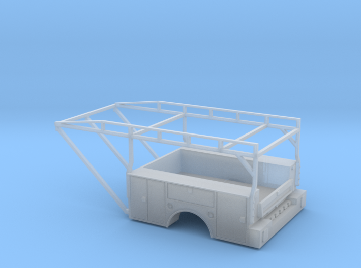Dually Truck Utility Tool Box Bed - 1-87 HO Scale 3d printed