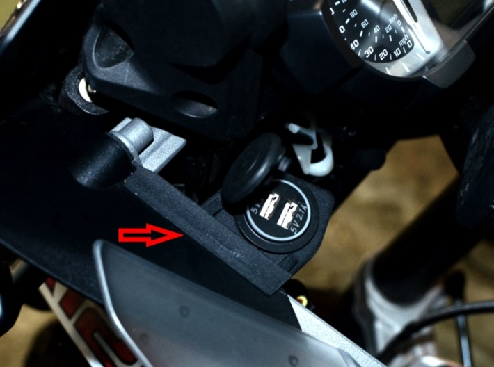 Electrical Socket Holder for BMW R1200GS/Adv 13-16 3d printed User picture