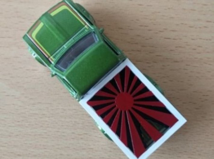 Hotwheels Hard cover Datsun 620 pick-up 3d printed