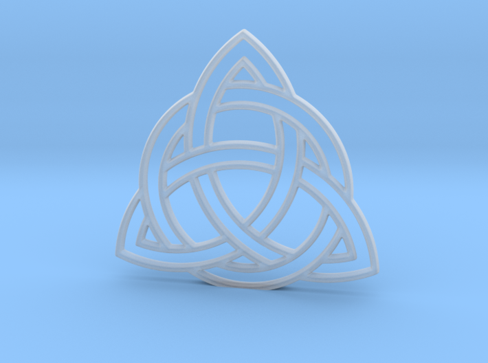 Nearly invisible celtic pendant or earrings 3d printed