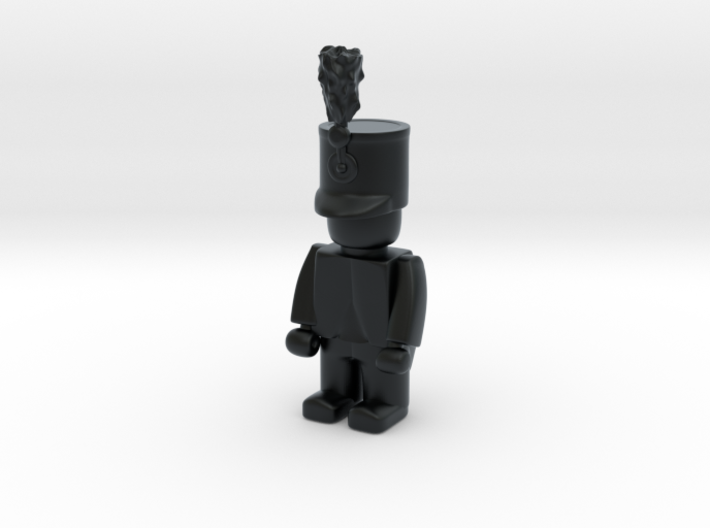 5 x Austrian Hussar 3d printed Example figurine wearing the helmet in black Hi-Def Acrylate